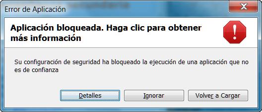 Ayuda con java si tienes java actualizado y las pginas no funcionan se bloquea la ejecucin de las miniaplicaciones ejemplo urtaz Gallery